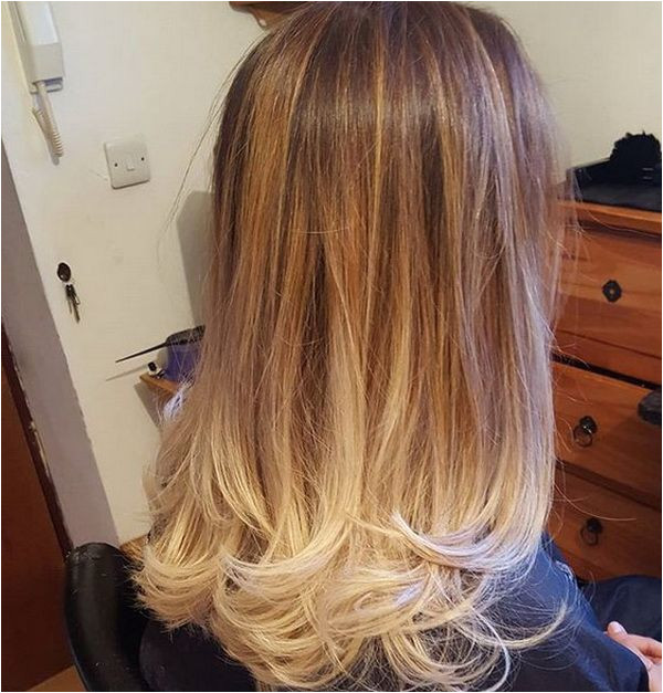 Ombre Hair Color 2018 2019 Brown to Light Blonde for Straight Hair