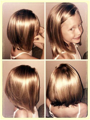 Kids hair cut Aline