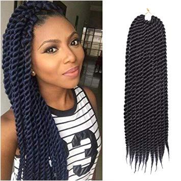 Amazon 22Inch 12strands pack 6Packs Havana Mambo Crochet Braids Senegalese Twist Crochet Twist Braiding Hair Extensions 1B Beauty