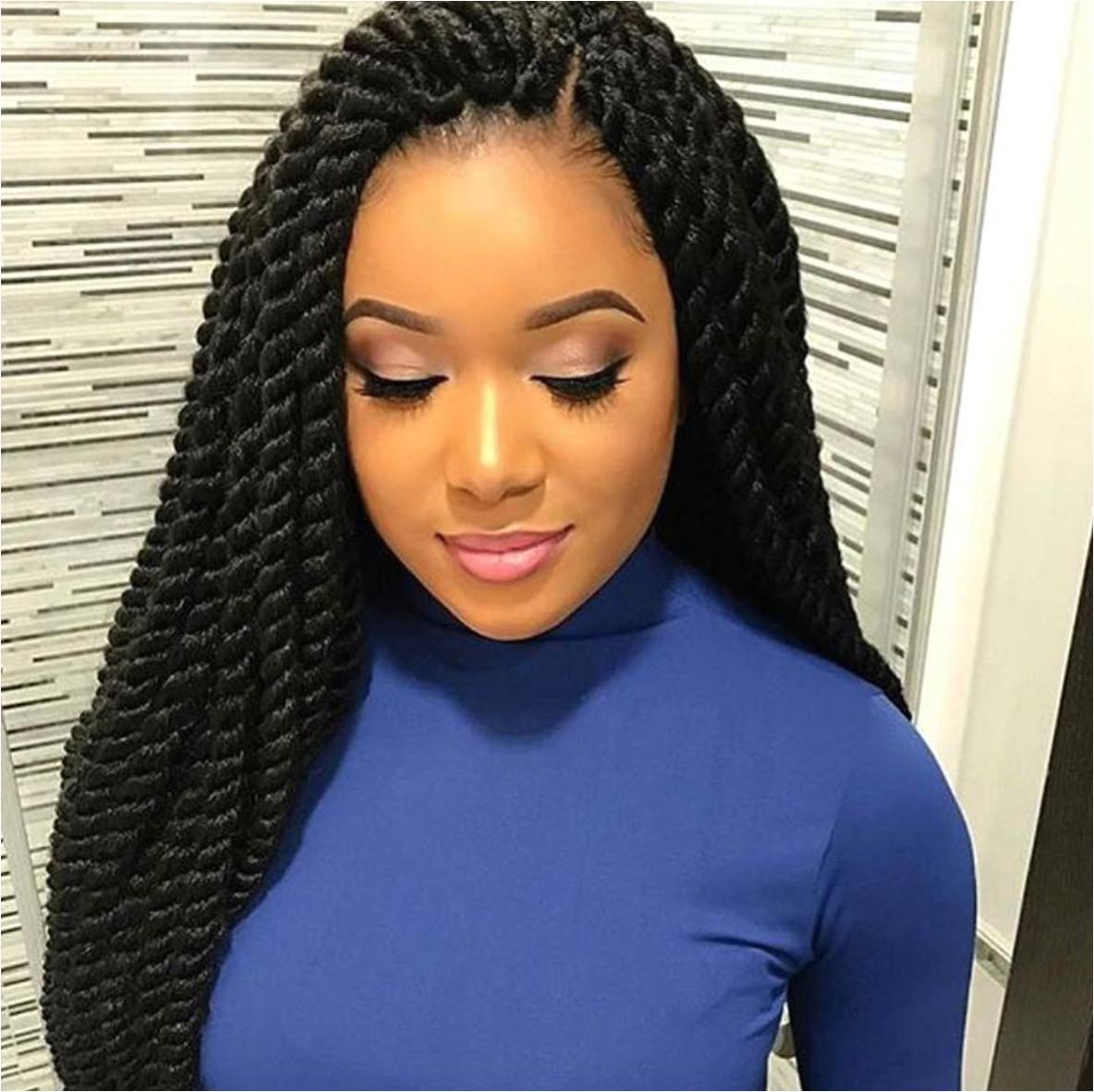 Flawless twists via narahairbraiding hairstyle