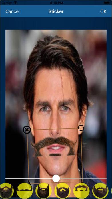 Screenshot 4 for Men Beard & Hairstyle Editor
