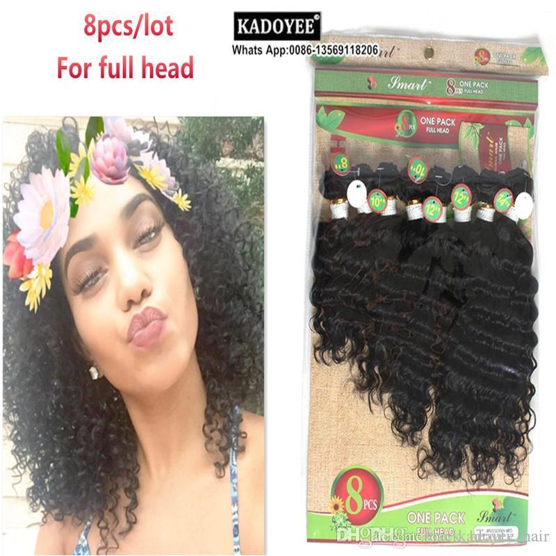 Deep Curly Brazilian Hair Weaves 8 14inch Virgin Hair Unprocessed Natural Color Human Hair Extension No Shedding No Tangle Hair Extension Deep Curly Hair