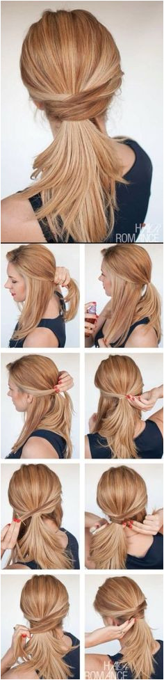 Twisted Ponytail Easy Ponytail Hairstyles Hair Ponytail Quick Work Hairstyles