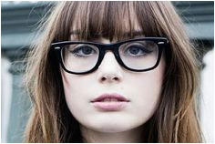 Bangs and glasses can be adorable quirky or edgy but it could also look like your entire face is nothing but bangs and frames