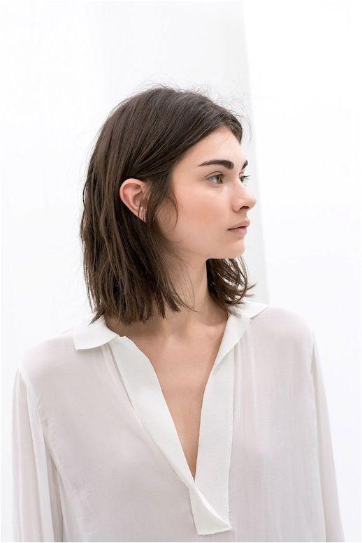 15 Le Fashion Blog 25 Inspiring Long Bob Hairstyles Haircut Lob Brown Hair White Shirt Via