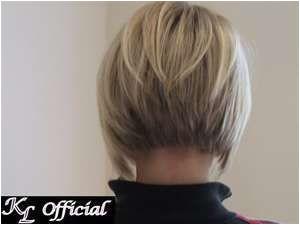 Angled Bob Haircut Back View