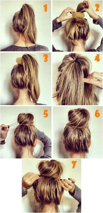 Easy Hair Buns Buns For Long Hair Messy Bun How To Cute Messy