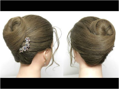 Elegant High Bun Hairstyle Easy Updo For Parties Hair Tutorial