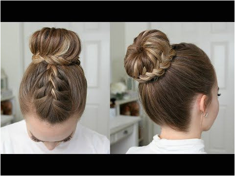French & Lace Fishtail High Bun