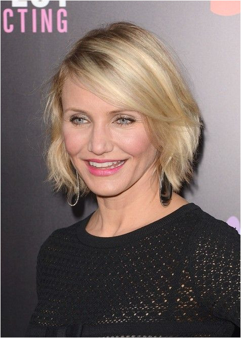 Hairstyle for Women Over 40 Cameron Diaz Short Bob Hairstyle for 2014