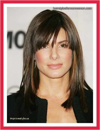 Medium Length Hairstyles for Women New Shoulder Length Hairstyles with Bangs 0d Improvestyle towards Edges