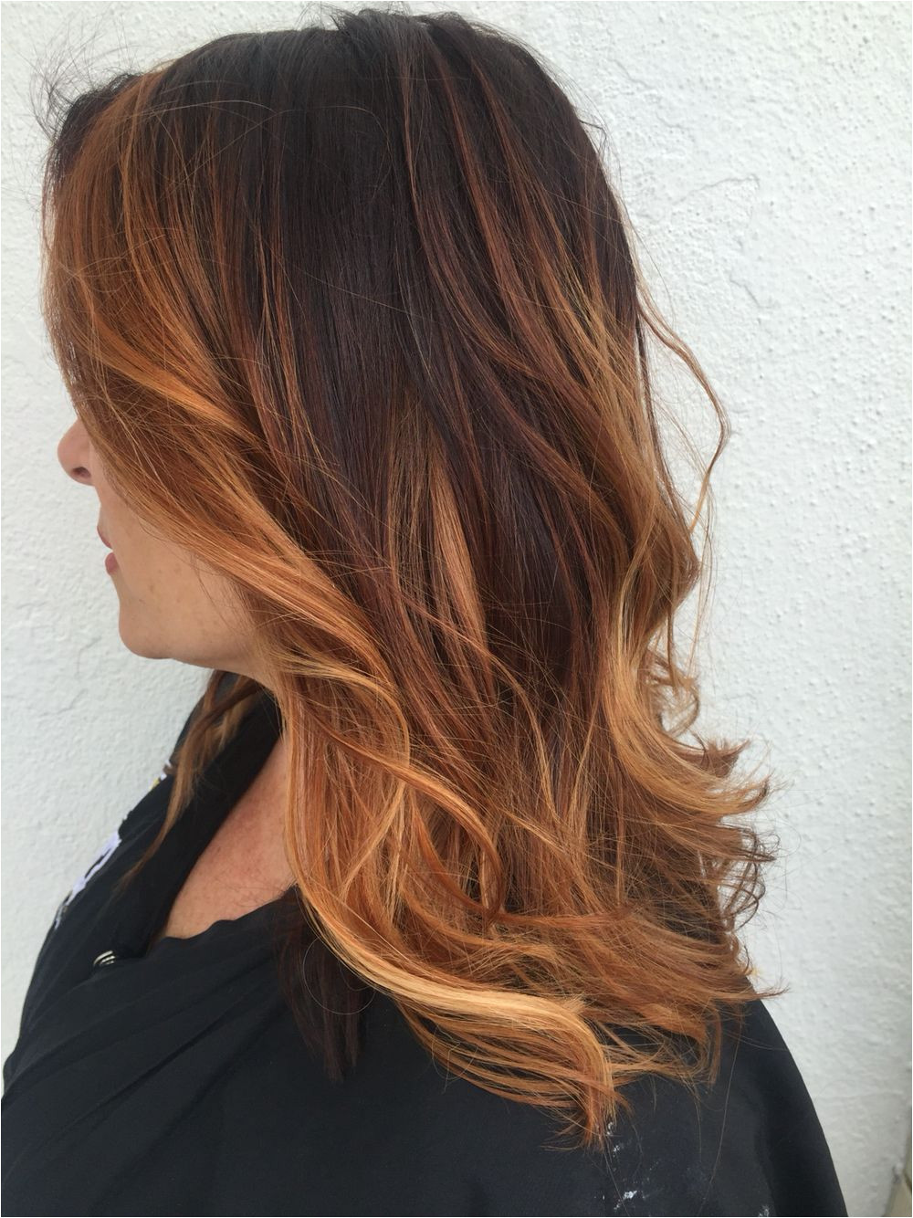 Hairstyles Copper Highlights Copper Balayage Hair Color In 2019