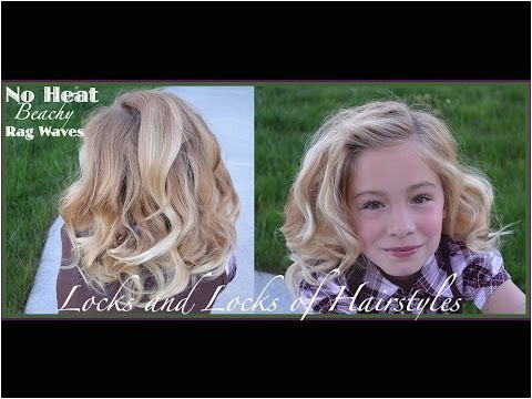 Rag Curls Beachy waves and curls with fabric strips and no heat tutorial