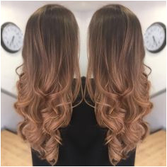 Balayage Ombré Curly blow dry Hairstyle
