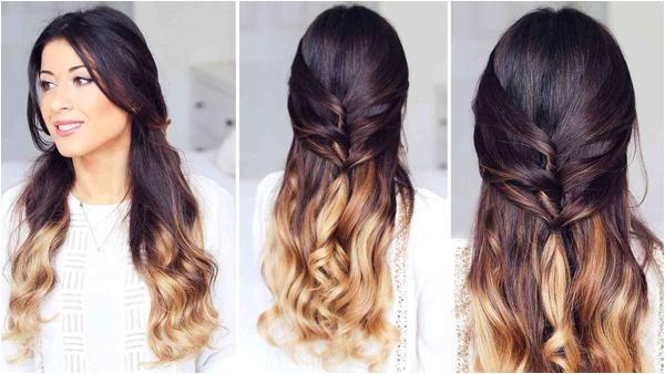 Cute Half Up Half Down Hairstyle – Luxy Hair StepByStepHairstyleTutorials