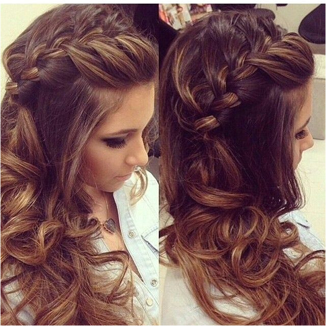 Braided Hairstyles with Curls Prom Long Hairstyle Ideas