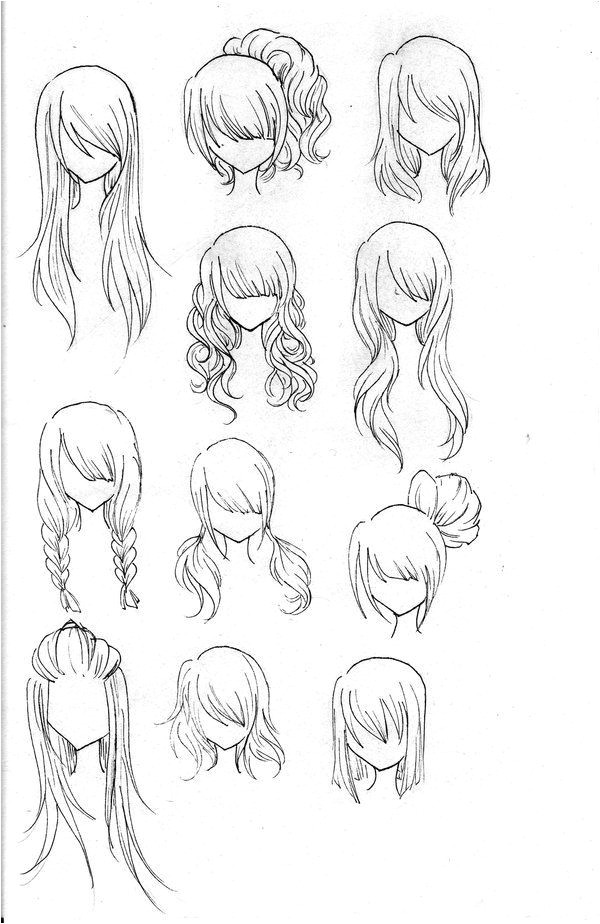 Hairstyles Drawing Step by Step Draw Realistic Hair Drawing Ideas