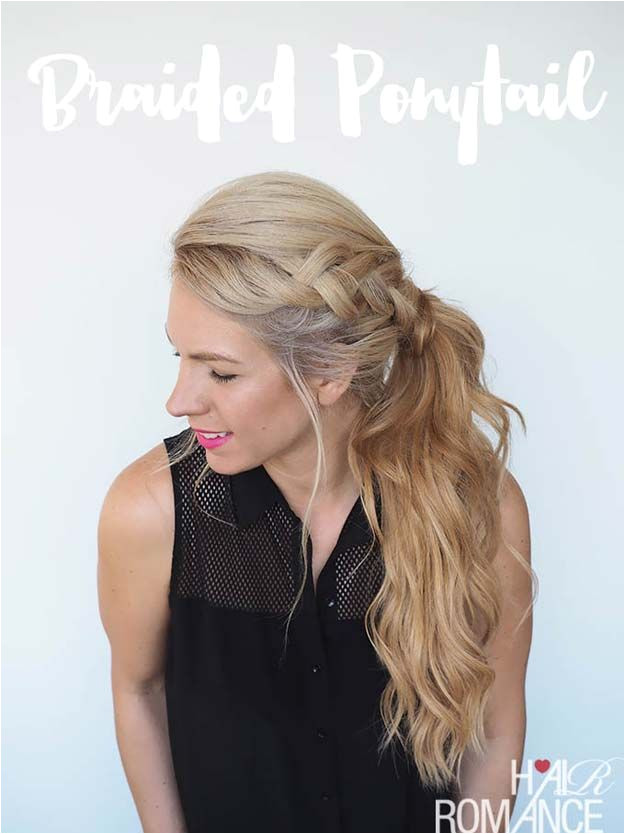 Cool and Easy DIY Hairstyles Braided Ponytail Hairstyle Quick and Easy Ideas for Back