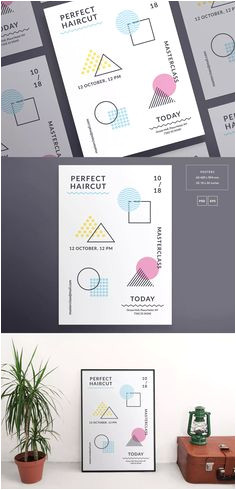 Haircut Masterclass Poster Template by ambergraphics on Envato Elements