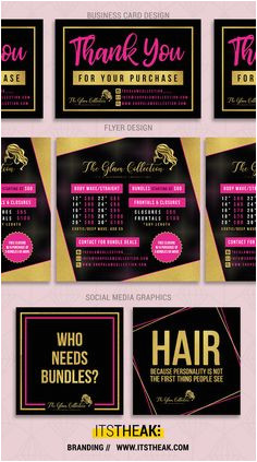 Customized Designs Printable Thank You For Your Hair Purchase Card Digital Flyer Design