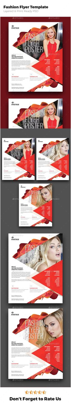 Buy Fashion Flyer by germanxpert on GraphicRiver Fashion Flyer Template for Promoting business services based campaign Everything is layered grouped and