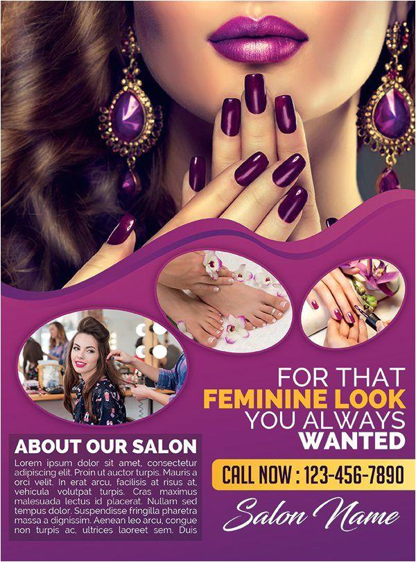 Beauty and Hair Salon – Premium PSD Flyer Template