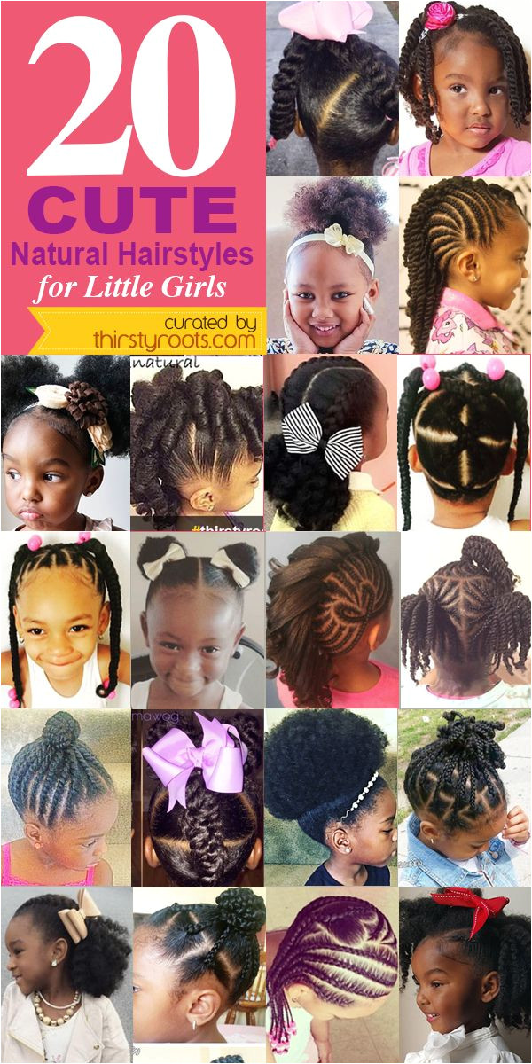 20 Cute Natural Hairstyles for Little Girls From pony puffs to decked out cornrow designs to braided styles natural hairstyles for little girls can be
