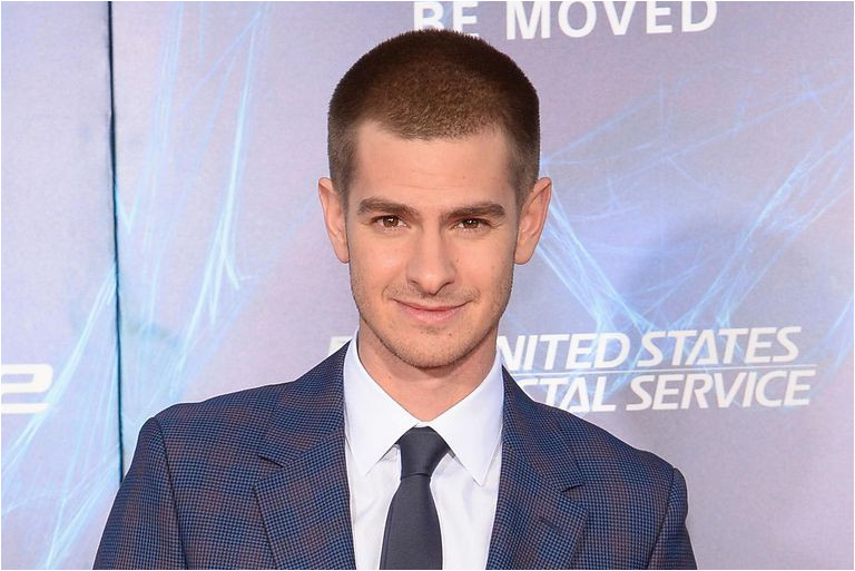 Actor Andrew Garfield attends The Amazing Spider Man 2 premiere at the Ziegfeld