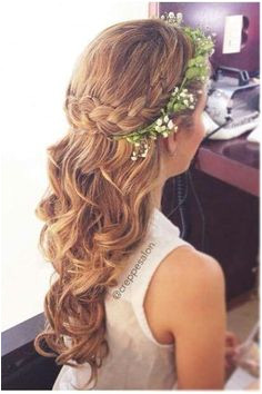 Junior bridesmaids hair Flowers In Hair Flower Braid Hair Braided Hair Hairstyles With