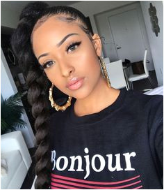 Braided Ponytail Hairstyles Ponytail Styles Black Girls Hairstyles Cute Hairstyles Birthday Hairstyles