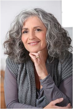 wavy coarse gray medium length styles Google Search Grey Curly Hair