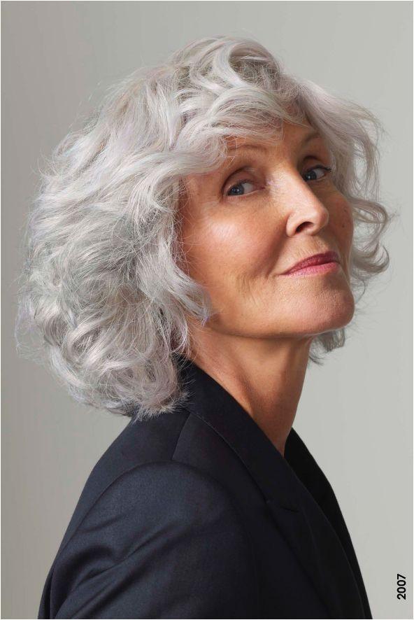 Medium length hairstyle gray