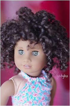 ALLURING Custom American Girl Doll TM 47 curly 58 wig Kanani eyes OOAK jodybo