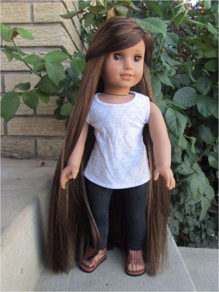 American Girl Doll Custom Just Like You 28 Hand Made Wig Long Hair JLY Marisol Dolls