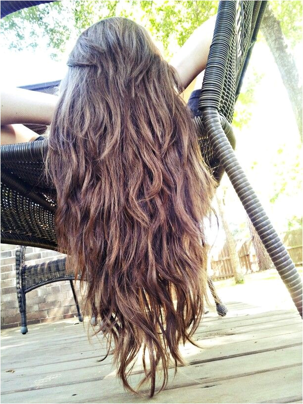 Straight ish Wavy Long Hair with Tons of Layers