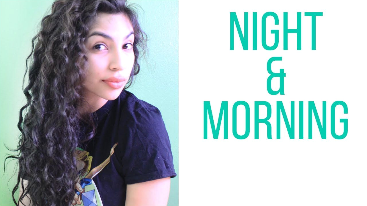 Curly Hair Routine Night & Morning