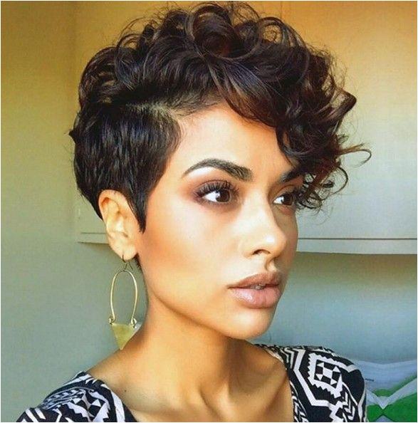 Short Curly Hair Style Curls Pixie Haircut