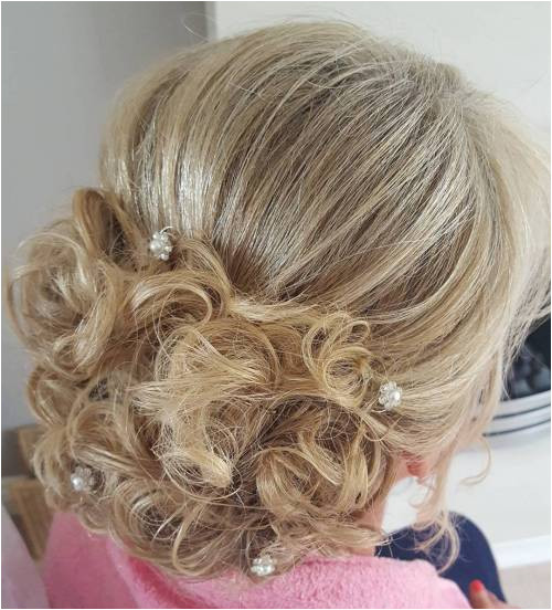 Mother The Bride Blonde Curly Updo