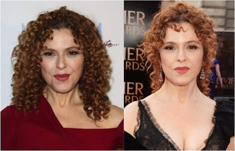 Bernadette Peters with hair down and in an updo