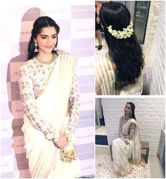 Hairstyles for Curly Hair while Wearing Saree 48 Best Saree Hairstyles Images