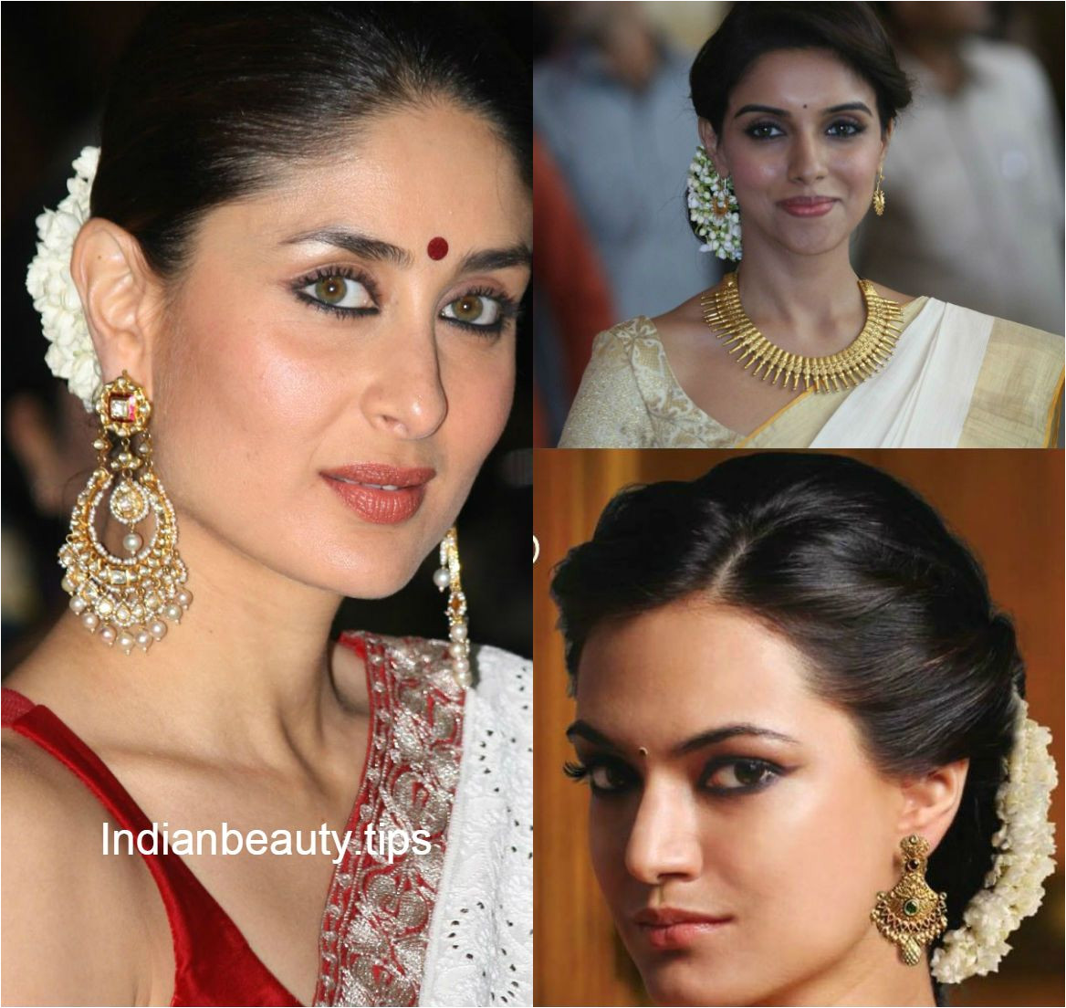 Hairstyles for Curly Hair while Wearing Saree Traditional south Indian Hairstyle Google Search