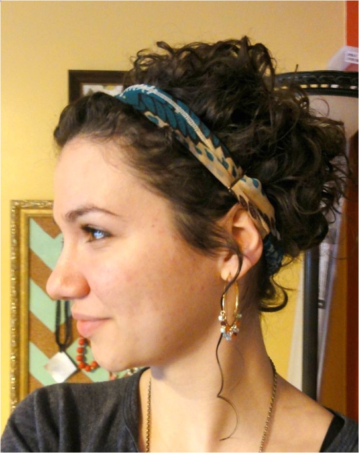 Headband Hairstyles for Short Hair Best How to Put Up Short Curly Hair Google Search