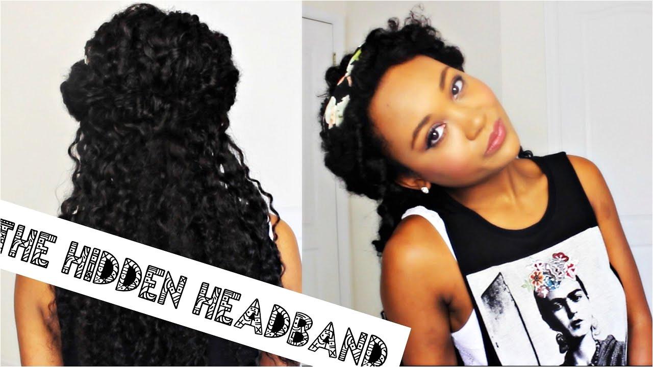 THE HIDDEN HEADBAND CURLY HAIR TUTORIAL