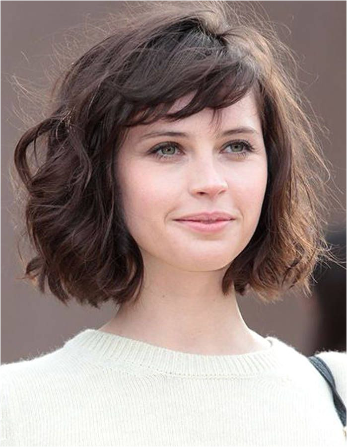 Curly Bob With Fringe Short Hair With Bangs For Round Faces Medium Bob With