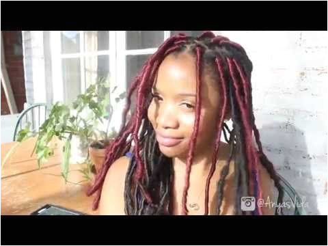 How I Retighten And Refresh Old Faux Locs Dreadlock Hairstyles Faux Locs