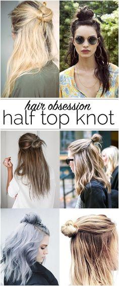 half top knot ideas