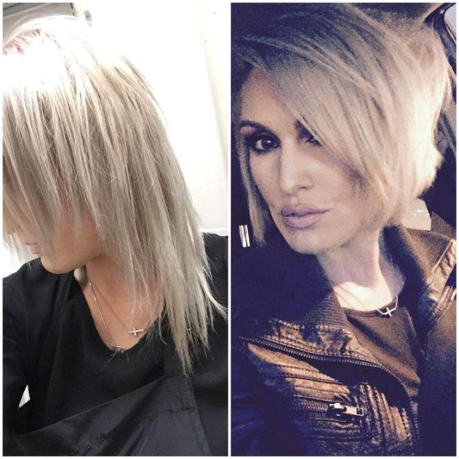 Avant Apres Thin fine hair haircut Before & after Best haircut for fine thin hair is a