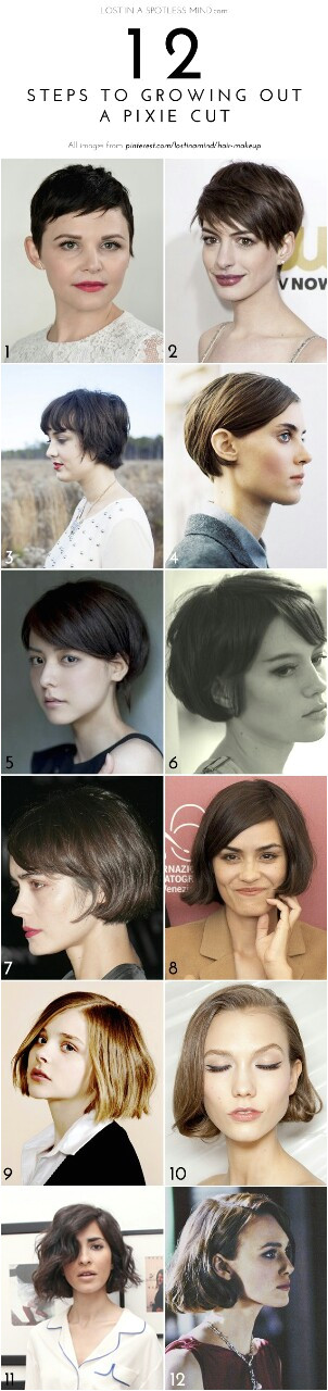 growing out hair