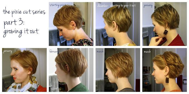 Great visual of monthly interim styles between a pixie and a bob From unspeakable visions the pixie cut series part 3 growing it out