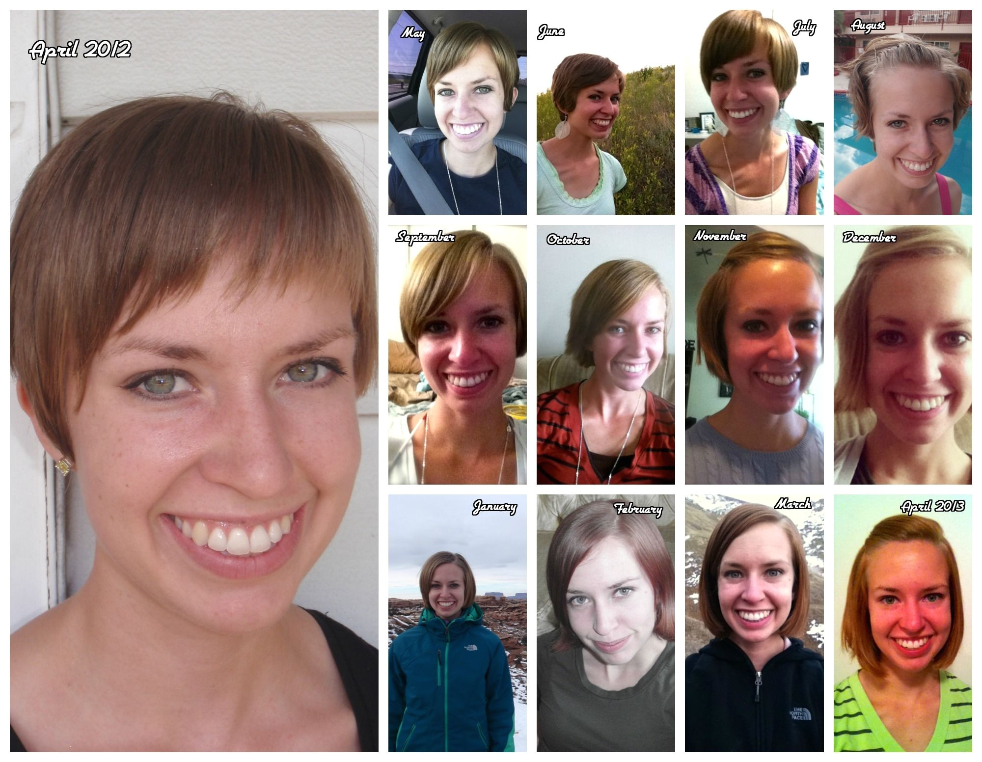 Growing out Pixie haircut timeline